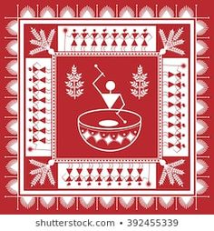 Find Indian Tribal Painting Warli Painting stock images in HD and millions of other royalty-free stock photos, illustrations and vectors in the Shutterstock collection. Worli Painting, Kerala Mural Painting, Indian Art Paintings, Fabric Painting, Madhubani Art, Madhubani Painting, Arte Tribal, Tribal Art, Mandala Art
