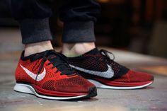 Nike Flyknit Racer Red White Black