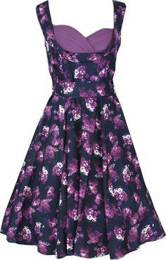 f37d3d0224515 Purple Floral Ophelia Style Dress