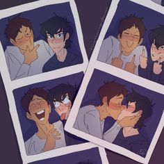 """""""They're, um, these are pretty gay.""""  """"Well. It's okay to be gay."""" … """"And you know what? I like 'em.""""  #klance"""