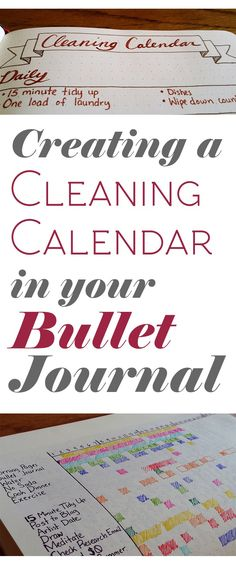 Cleaning got you down? Create a cleaning calendar and start making those to-dos into to-dones!