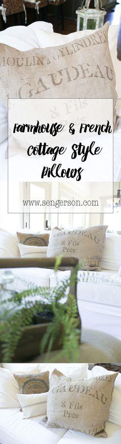 farmhouse style pillows french cottage