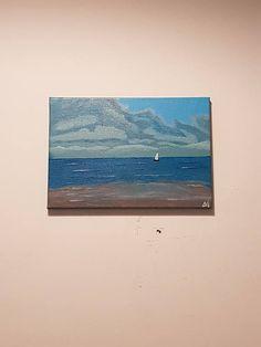 Sea Original Painting Seascape Canvas Art Blue colors Summer Blue Colors, Original Paintings, Canvas Art, Tapestry, Sea, The Originals, Nature, Summer, Vintage