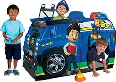 Spring into action as Chase & your child save the day in their Paw Patrol Chase Police Truck Play Tent from PlayHut! This play tent vehicle is loaded with four pretend safety cones wrench & Paw Patro...