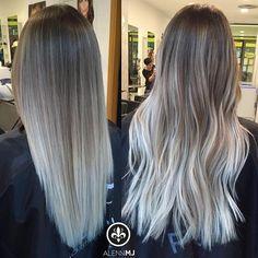 Blonde Hair Looks, Ash Blonde Hair, Hair Color For Black Hair, Ombre Hair, Ash Blonde Balayage, Corte Y Color, Hair Blog, Dyed Hair, Hair Inspiration