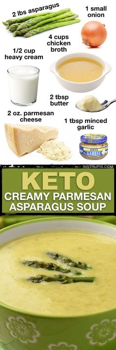 7 Easy Low Carb Soup Recipes (Keto Friendly!) | This low carb cream of asparagus soup is DELISH! | Instrupix