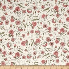 Curiosity Floral Ecru from @fabricdotcom  Designed by Santoro London for Quilting Treasures, this cotton print collection features sweet prints in muted colorways. Perfect for quilting, apparel, and home decor accents. Colors include cream, pink, green, and black.