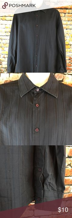 International Concepts Men's size L LSleeve Shirt Barely Worn.   International Concepts Men Size Large Shirt.  Navy striped stitched pattern.  Button front and at the cuffs.  Wrinkle Free.  Made of 100% Cotton.   Chest approximately 48 inches and  length approximately 30 inches in front and 31 inches in back.  Measurements are approximate and are given as a courtesy. Visit our Store for a great selection of new and used items INC International Concepts Shirts Casual Button Down Shirts