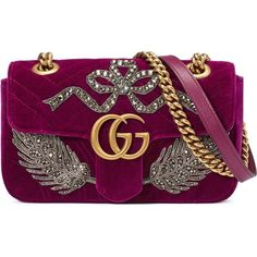 9e57d45f8f9a7c Shop now Gucci GG Marmont embroidered velvet mini bag for at Farfetch UK.