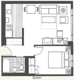 Image result for extended stay hotel room floor plan