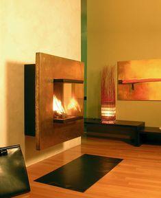 Wallmount Fireplace from Arkiane Wall mounted fireplace Wall