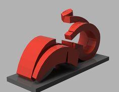 Modelo 3D de escultura descargable en el libro ESCULTURAS DE SANTA CRUZ DE TENERIFE. Objetos de aprendizaje tridimensional. Visualización, manipulación e impresión 3D.