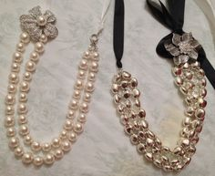 """""""De la Creme"""" and """"Silver Chic"""" Premier Designs. I normally don't like pearls, but this is purty..."""