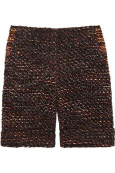 Mulberry Boucle-Tweed Shorts