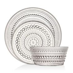 Iittala Kastehelmi Dinnerware Home - Dining & Entertaining - Dinnerware - Bloomingdale's Home Store Online, Pressed Glass, A Table, Design Elements, Dinnerware, Decorative Bowls, Objects, Tableware, Home Decor