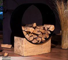 Стильная дровница от TM BLANCHE - это незаменимый аксессуар для тех, у кого дома есть камин. Оригинальная конструкция, выполненная из натурального дерева и метала в стиле лофт, позволит Вам удобно организовать хранение дров.