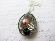 Memories Locked In Time Antiqued Silver Pendant by TheTripleJewel, $18.00