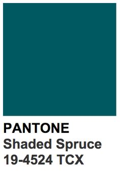 """Our color of the week for the 2nd week of December goes to """"Shaded Spruce""""! This bold hue comes from out FW 2016 Young Men's Traditional Touch pallet."""