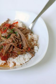 Ropa Vieja ('old clothes') - slow cooked beef