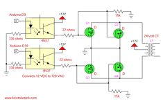 MOSFETs driving a transformer.