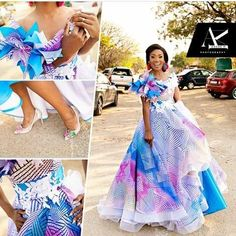 Traditional Dresses In South Africa 2019 ⋆ African Print Dresses, African Print Fashion, African Dress, African Traditional Wedding Dress, Traditional Dresses, Traditional Weddings, Modern Traditional, African Attire, African Wear