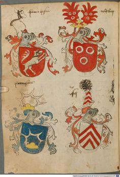 Tirol, Anton: Wappenbuch Süddeutschland, Ende 15. Jh. - 1540 Cod.icon. 310 Folio 62v