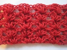 "Simple Shell Stitch (great for shawls, baby blankets, and thick double-stranded afghans): ""Start by chaining a multiple of 4."""