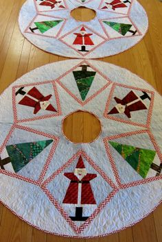 Pattern-J:  Santa Smiles Tree Skirts