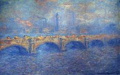 Waterloo Bridge, Sunlight Effect by Claude Monet