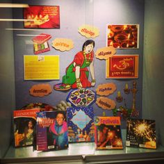 Diwali display at Parramatta City Library Bulletin Board Display, Classroom Bulletin Boards, Classroom Ideas, Library Displays, Classroom Displays, Diwali Party, Diwali Rangoli, City Library, Cool Girl Pictures