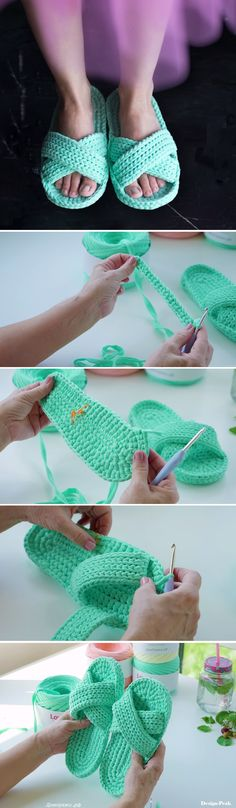 We are adding another flip-flop tutorial to our broad and packed slipper tutorials list. Today we are going to learn to crochet these beautiful flops. Crochet Boots, Crochet Slippers, Knit Or Crochet, Crochet Crafts, Crochet Clothes, Crochet Stitches, Crochet Baby, Crochet Projects, Learn To Crochet