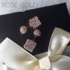 Rose Gold & Rhinestone Earrings NWT Simply Elegant!  Price Firm unless bundled with another item.  Thanks! BCBGeneration Jewelry Earrings
