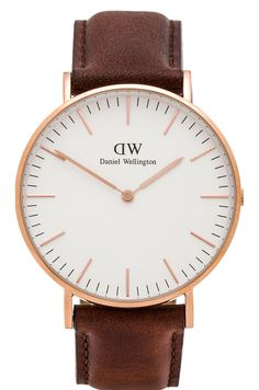 Daniel Wellington Classic St. Andrews Lady 36mm in Rose Gold - love the face on this wash. Ver clean and simple.
