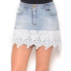 Geri Dönüşüm Projeleri Lace Shorts, Denim Shorts, Jean Skirt, Skirts, Women, Fashion, Moda, Women's, Skirt
