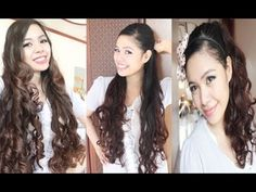 No Heat Gift Wrapper Curls Method 2- Ariana Grande Inspired hairstyle- Back to School Hair Tutorial