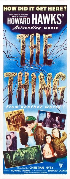 """What a way to start the 1950's! """"The Thing, From Another World"""". Kenneth Tobey and a little known actor named James Arness, as The Thing! Howard Hawks could make a movie. John Carpenter thought so....."""