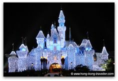 Sleeping Beauty Castle at HK Disney during Christmas Time