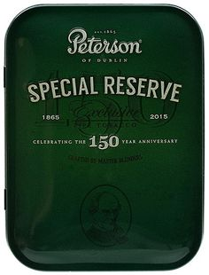 Tinned Pipe Tobacco: Peterson Special Reserve Limited Edition 2015 100g at Smokingpipes.com