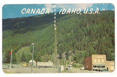 Canadian Border Port of Entry at Eastport Idaho Vintage Postcard