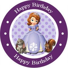 Sofia the First Birthday Party Stickers by LilyPadInvitations, $5.00