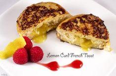 Lemon Curd Stuffed Brioche French Toast