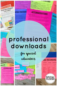 Help for special education paperwork is HERE! Come inside the Special Educators Resource Room and get ready for your best school year ever! #specialeducation #teachermemberships