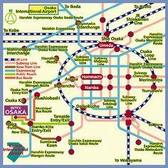 Public Transportation Map of Osaka