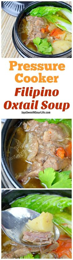 This fall off the bone Pressure Cooker Filipino Oxtail Soup Recipe will surely please your family. A delicious soup broth with tender juicy Oxtail meat.