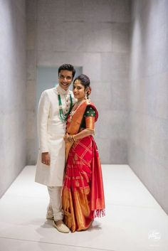 Couple Wedding Dress, Wedding Dresses Men Indian, Indian Bridal Sarees, Indian Bridal Outfits, Wedding Couples, Wedding Engagement, Wedding Couple Poses Photography, Indian Wedding Photography, Engagement Photography