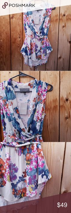 NWT Anthropologie Sunday in Brooklyn Floral Top Gorgeous colors, ties in back Excellent condition  Feel free to ask me any additional questions! Bundles 3+ are 15% off. No trades, or modeling. Happy Poshing! Anthropologie Tops