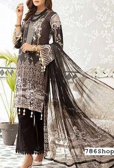 Black Pakistani Dress, Pakistani Clothing, Pakistani Lawn Suits, Pakistani Outfits, Indian Outfits, Fashion Pants, Fashion Dresses, Add Sleeves, Lawn Fabric
