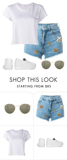"""""""Untitled #484"""" by stephaniasant on Polyvore featuring Ray-Ban, Chiara Ferragni and RE/DONE"""