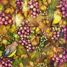 Autumn harvest..  #rhapsodyintheforest #egusakanoko #fabercastellpolychromos #prismacolor #triplusfineliner