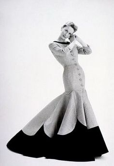 Coat dress by Lachasse, 1955.